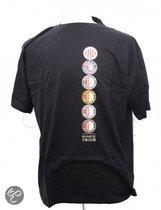 Feyenoord T-shirt 6  x logo zwart maat s