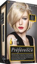 L'Oréal Paris Préférence Récital - 9.1 Zeer Licht Asblond - Haarkleuring