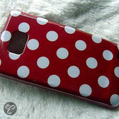 Samsung Galaxy S2 Polka Dot hoesje case cover - rood