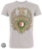 Feyenoord T-shirt heren vleugels grijs maat m