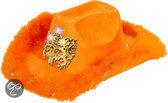 Cowboyhoed Deluxe Oranje Leeuw