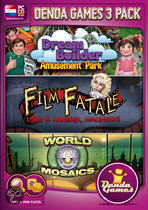 Denda Games 3 Pack: Amusement Park + Film Fatale: Lights, Camera, Madness + World Mosaics 6