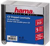 Hama Cd Box Dubbel - 5 stuks / Geseald