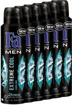 Fa Extreme Cool - 150 ml - Deodorant - 6 st - Voordeelverpakking