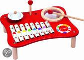 Confetti muziektafel rood