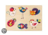 Egmont Toys Houten puzzel met houten knopjes Dieren