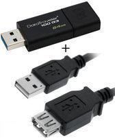 Benza - Kingston MEM DataTraveler USB Geheugenstick Flash Drive 100 G3 64GB 3.0 Twin Pack