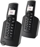 Grundig D150 Duo - Draadloze DECT-telefoon - Zwart