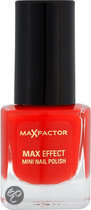Max Factor Max Effect - 11 Red Carpet Glam - Rood - Mini Nail Polish