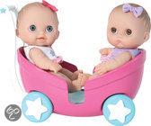 Lil' Cutesies Tweeling Pop in Poppenwagen