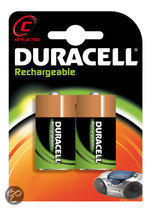 Duracell Oplaadbare  Batterijen C 2200mAh 2x Pak