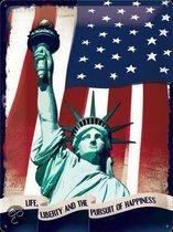 Muurplaat met vrijheidsbeeld New York