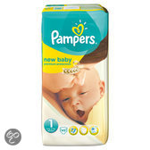 Pampers New Baby - Maat 1 met urine indicator Midpak 45 st.