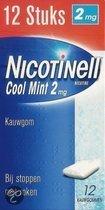 Nicotinell cool mint 2 mg kauwgom - 12 stuks - Antirookbehandeling