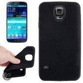 Samsung S5 Silicone Beschermhoes, case, frontje zwart
