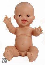 Paola Reina Gordi babypop bloot jongen lachend 34cm in zak
