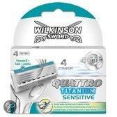 Wilkinson Sword Quattro Titanium mesjes 4-pack