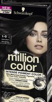 Schwarzkopf Million Color 1-0 Intens Zwart  - Haarkleuring