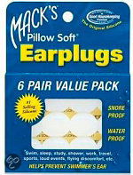 Macks Earplugs Oordoppen - 6 Paar