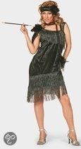 Jaren 20 glamour jurk zwart 38 (m)