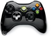 Microsoft Xbox 360 Draadloze Controller Chroom Zwart - Limited Edition