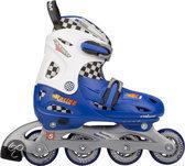 Inlineskates Quads Junior Verstelbaar - Hardboot - Blauw/Wit/Zilver - maat 34-37