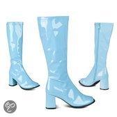 Retro laklaarzen blauwe kleur 41