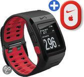 Nike+ GPS Sporthorloge met schoensensor - Antraciet/Rood