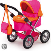 Poppenwagen Trendy - Roze/Oranje