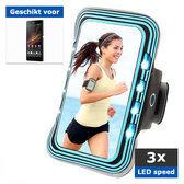 qMust Sony Xperia Z Sport Armband met led-lampjes (blue)