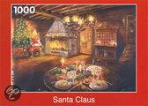 Puzzelman Puzzel: Kerstman In De Living - 1000 Stuks