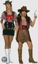 Oktoberfest Tiroler blouse voor dames rood/wit 40 (l)