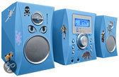 Bigben Micro CD Speler - 300 Stickers - Blauw