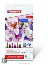 Porselein marker edding 4200-6999 rode kleuren set á 6 kleuren