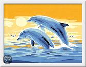 Schilderen op Nummer - Springende Dolfijnen