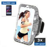 qMust Sony Xperia E1 Sport Armband met led-lampjes (white)