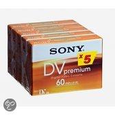 Sony 5DVM60PR MiniDV 60 min. 5-pak