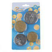 Plastic Euro munten speelgeld XL