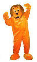 Luxe pluche oranje leeuw kostuum
