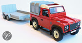Land Rover And General Purpose Trailer Set