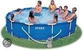 Frame zwembad 366 cm met 12v Filterpomp