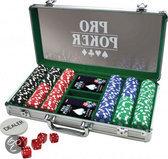 Pro Poker Case met 300 Chips van 11.5 Gram