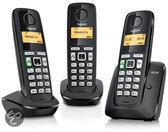 Gigaset A220 - Trio DECT telefoon - Zwart