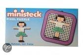 Ministeck Meisje mini pixel puzzle met frame 8 x 8cm