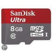 Sandisk Ultra MicroSD kaart 8 GB + SD Adapter