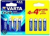 Varta High Energy 04903 - Battery 8 x AAA Alkaline 1250 mAh