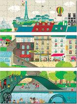 Puzzelkoffer Parijs 3 in 1