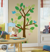 RoomMates - Muursticker Dotted Tree - Groen