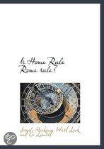 Is Home Rule Rome Rule?