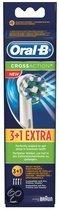 Oral-B Cross Action - 3 + 1 stuks - Opzetborstels